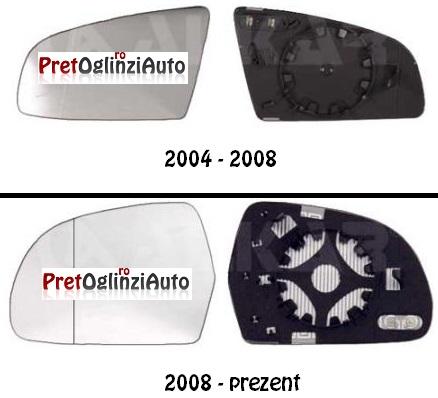 Geam oglinda dreapta Audi A6 2004-2011