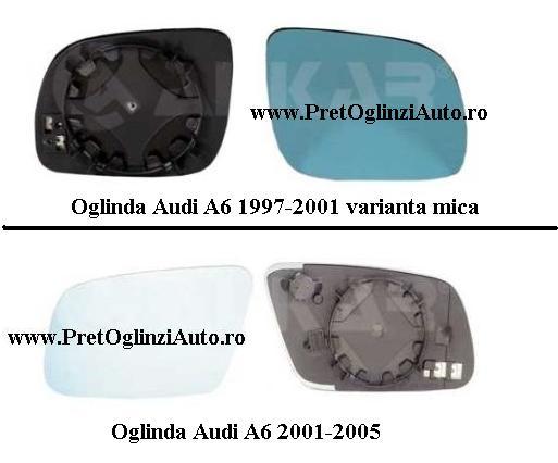 Pret Geam oglinda stanga AUDI A6 1997 2005