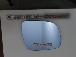 Oglinda laterala albastra dreapta VW Bora doar geamul