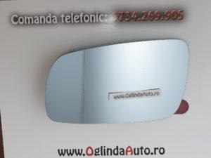 Oglinda laterala heliomata stanga VW Bora doar geamul