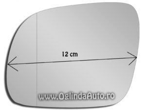 Geam oglinda laterala stanga mica VW Golf 4