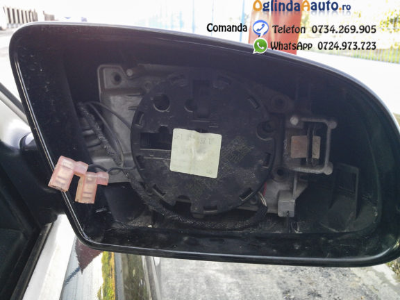 Geam oglinda exterioara furat Audi A4 B7