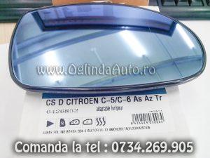 Sticla oglinda dreapta cu dezaburire Citroen C5 2001-2004