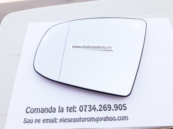 Sticla oglinda stanga cu incalzire BMW X5 E70 2008-2014