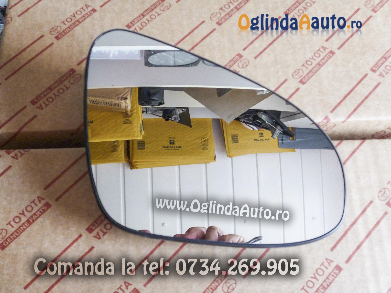 Sticla oglinda dreapta cu dezaburire Toyota Auris 2012-2016