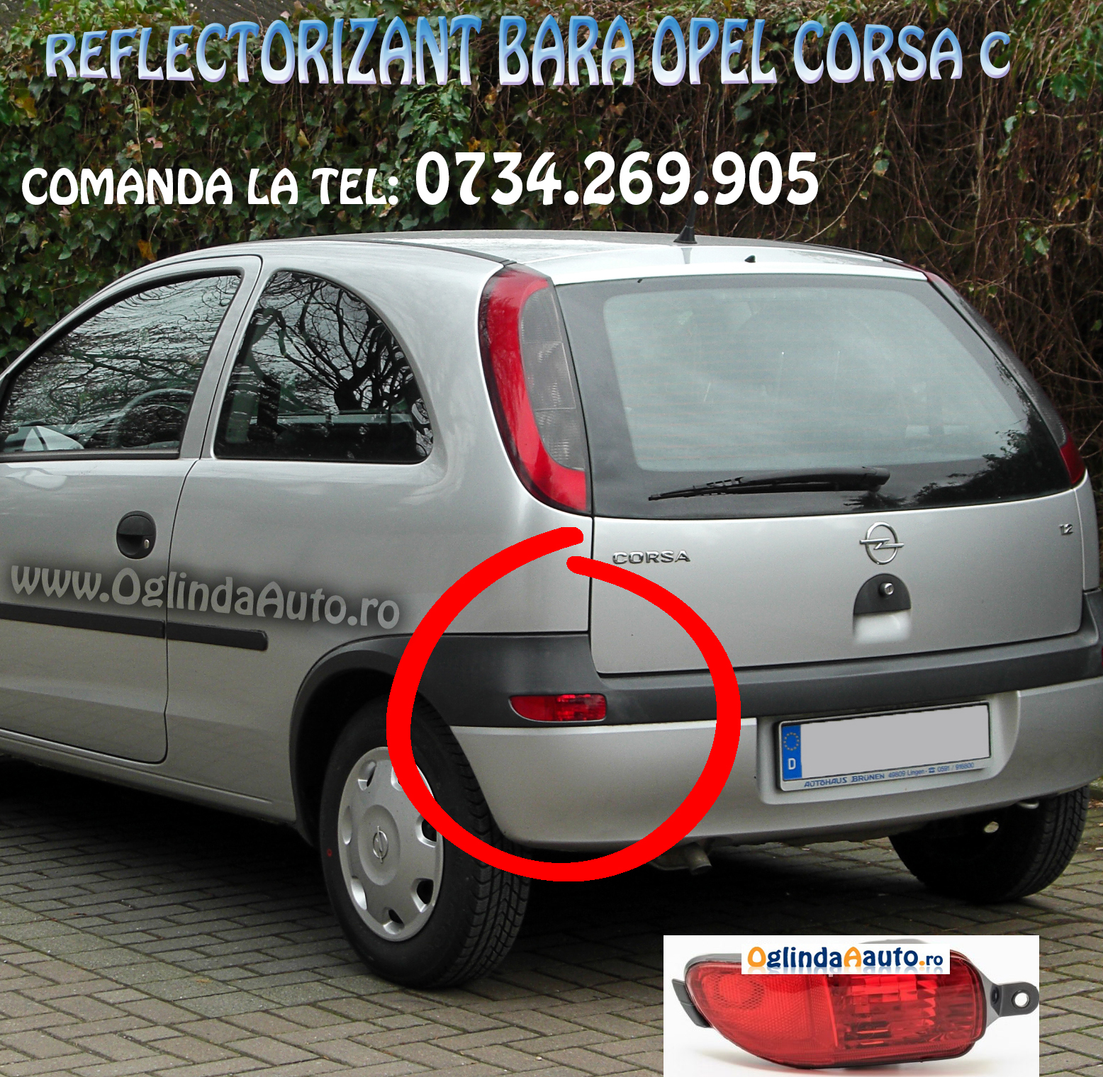 stop bara spate stanga opel corsa c 2000 2003. Black Bedroom Furniture Sets. Home Design Ideas