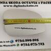 Dimensiune marime pe lungime Skoda Octavia 1 Tour Facelift I. Geam sticla oglinda mai mare dreapta partea pasagerului cu incalzire Skoda Octavia 1 I Tour Facelift an fabricatie 2007, 2008, 2009, 2010 si 2011.