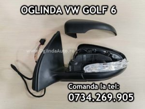 Oglinda completa stanga partea soferului pentru VW Golf 6 VI cu reglaj electric si incalzire pentru tip caroserie hatchback / scurta an fabricatie 2008, 2009, 2010, 2011, 2012, 2013, 2014.