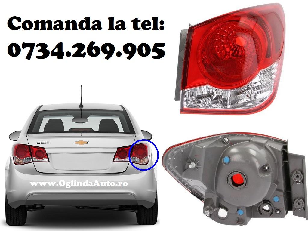 Stop tripla lampa spate dreapta partea pasagerului, doar partea de pe aripa din exterior nu de pe hayon / portbagaj Chevrolet Cruze an fabricatie 2009, 2010, 2011, 2012, 2013, 2014 si 2015.