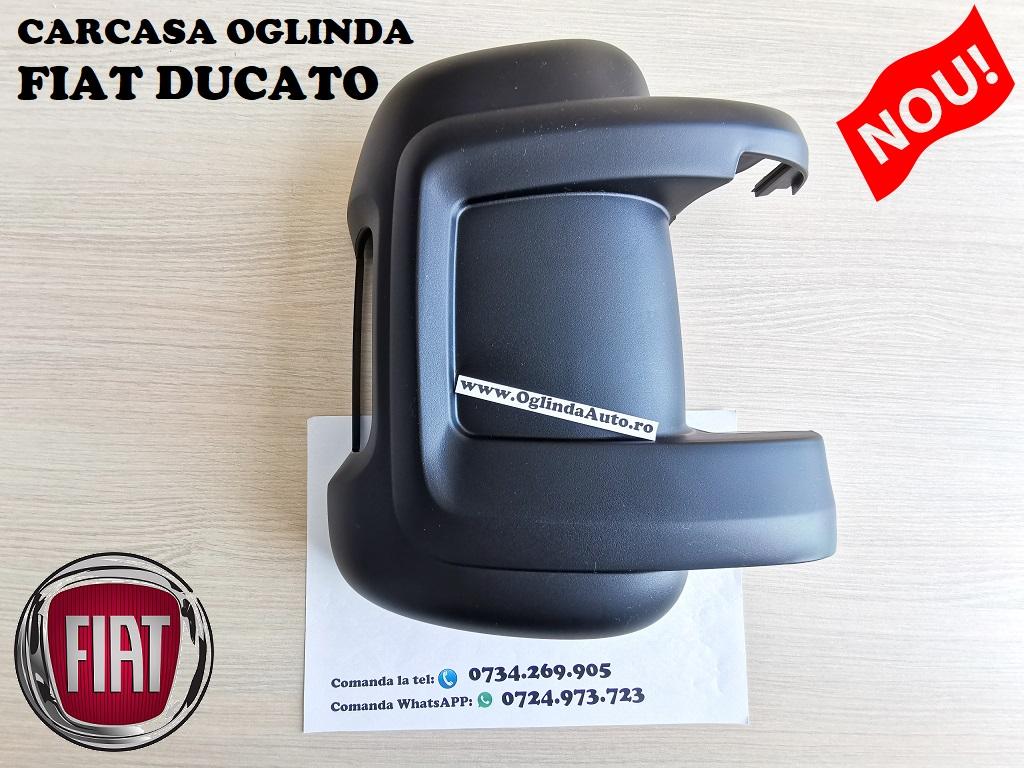 Capac carcasa oglinda Fiat Ducato dreapta spate neagra partea pasagerului cu locas pentru semnalizare an fabrica tie 2006, 2007, 2008, 2009, 2010, 2011, 2012, 2013, 2014, 2015, 2017, 2018, 2019 si 2020.