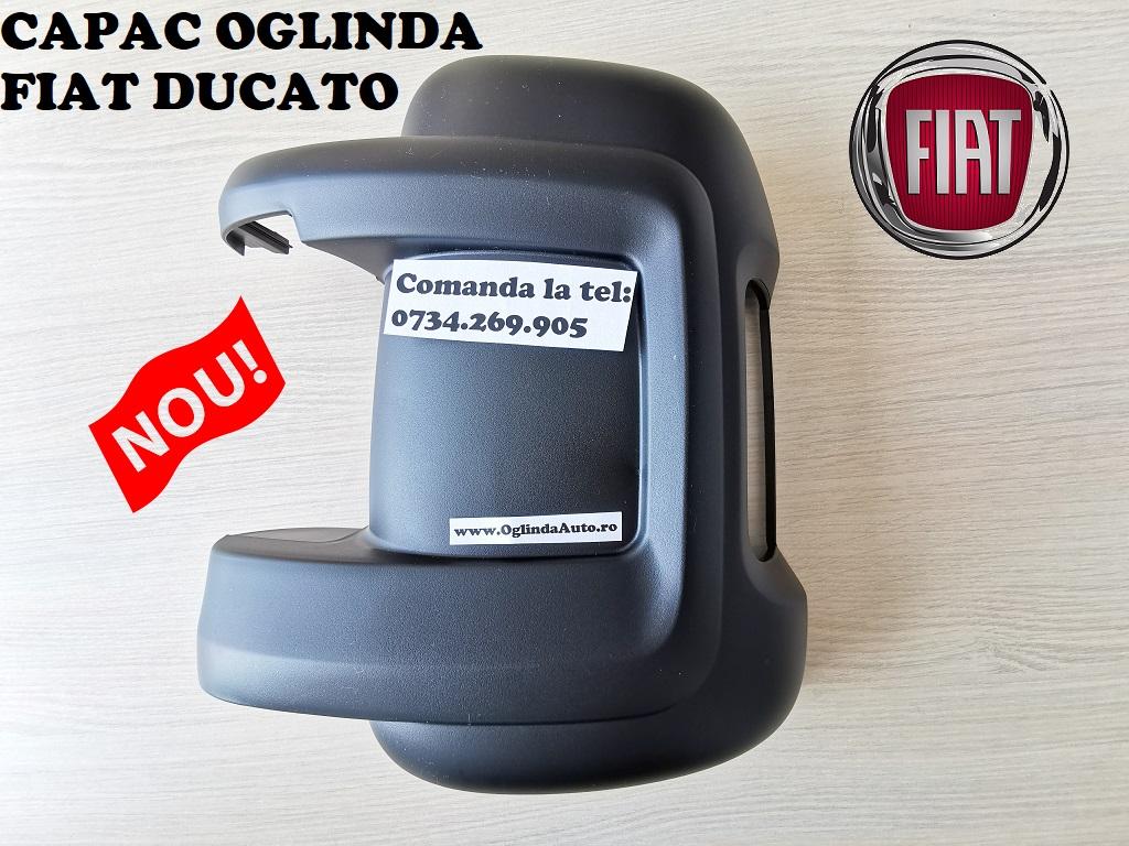 Capac carcasa oglinda Fiat Ducato stanga spate neagra partea soferului cu locas decupat pentru semnalizare an fabrica tie 2006, 2007, 2008, 2009, 2010, 2011, 2012, 2013, 2014, 2015, 2017, 2018, 2019 si 2020.