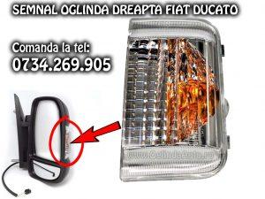 Lampa semnalizare semnal cu bec alb sau galben de pe oglinda dreapta partea pasagerului pentru Fiat Ducato an fabricatie 2006-2020 se potriveste si pe modelul cu facelift.
