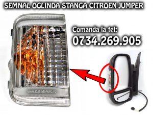Lampa semnalizare semnal cu bec alb sau galben de pe oglinda stanga partea soferului pentru Citroen Jumper an fabricatie 2006-2020 se potriveste si pe modelul cu facelift.