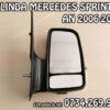 Oglinda completa dreapta partea pasagerului cu reglaj manual si semnal Mercedes Sprinter an fabricatie 2006, 2007, 2008, 2009, 2010, 2011, 2012, 2013, 2014, 2015, 2016, 2017 si 2018