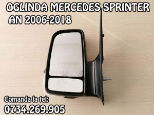 Oglinda completa stanga partea soferului cu reglaj manual si semnal Mercedes Sprinter an fabricatie 2006, 2007, 2008, 2009, 2010, 2011, 2012, 2013, 2014, 2015, 2016, 2017 si 2018
