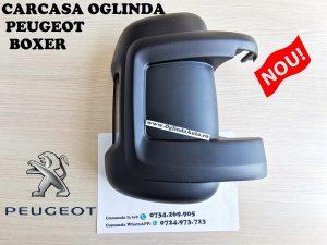 Capac carcasa oglinda Peugeot Boxer dreapta spate neagra partea pasagerului cu locas pentru semnalizare an fabrica tie 2006, 2007, 2008, 2009, 2010, 2011, 2012, 2013, 2014, 2015, 2017, 2018, 2019 si 2020.