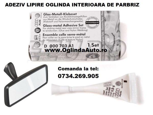 Lipici adeziv pentru a lipi oglinda retrovizoare interioara de parbriz original VW, Seat, Skoda, Audi cu aplicare simpla si fixare instantanee.