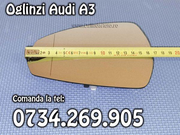 Sticla oglinda Audi A3 stanga